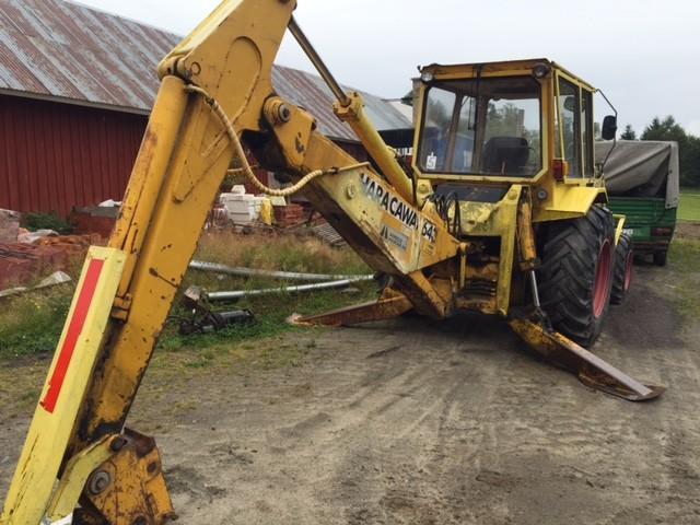 hymas traktorgrävare säljes