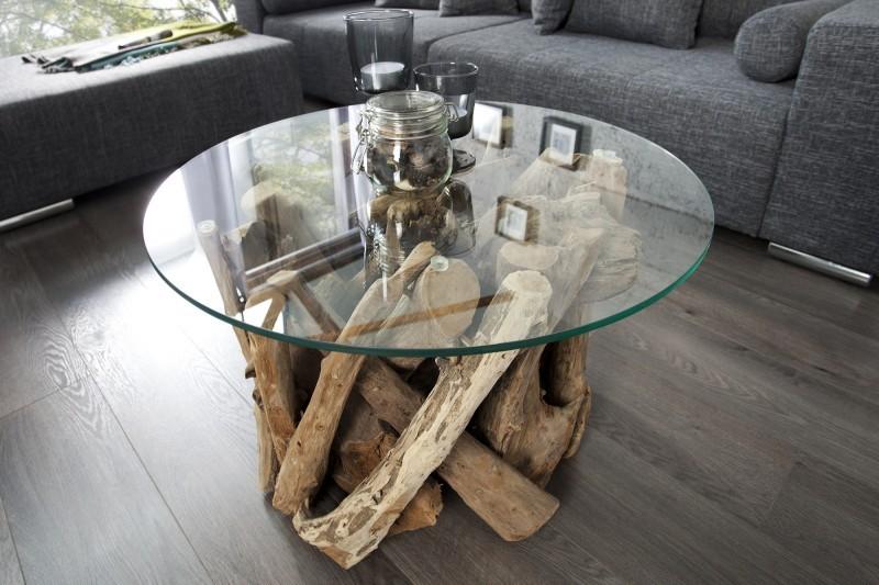 Slag1 soffbord annorlunda for Design couchtisch nature lounge teakholz mit runder glasplatte beistelltisch